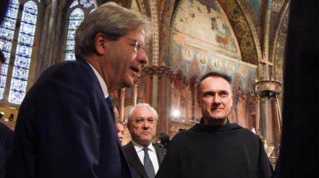 Il presidente del Consiglio Gentiloni ad Assisi