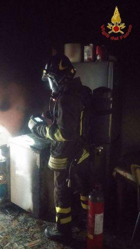 L'intervento dei vigili del fuoco (foto omaggio)