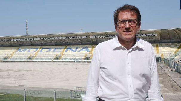 Il sindaco di Modena Muzzarelli al Braglia (FotoFiocchi)