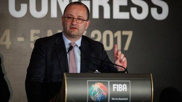 Il Segretario Generale della FIBA Baumann (foto FIBA)