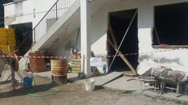 Sambucheto di Recanati, il cantiere edile sequestrato