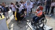 Le prove per sport paralimpici (foto Schicchi)