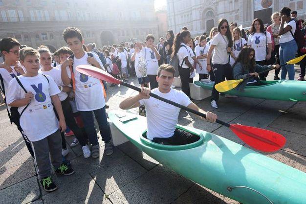 Federico Mancarella, talento della canoa (foto Schicchi)