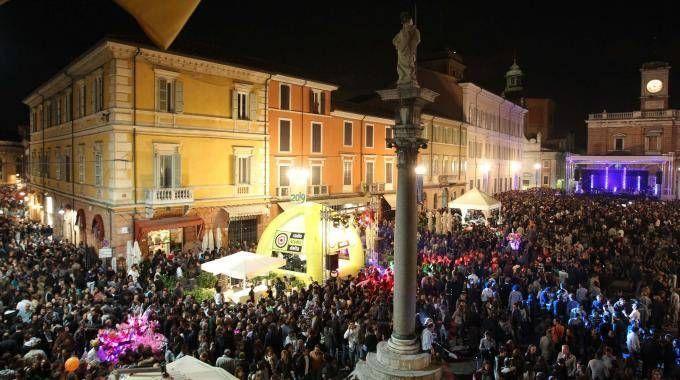 Piazza del Popolo durante la Notte d'Oro