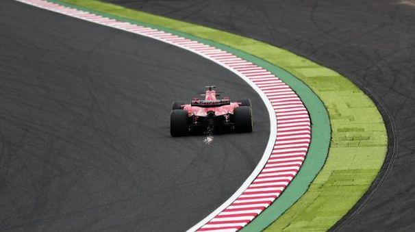 La Ferrari di Vettel a Suzuka (Afp)