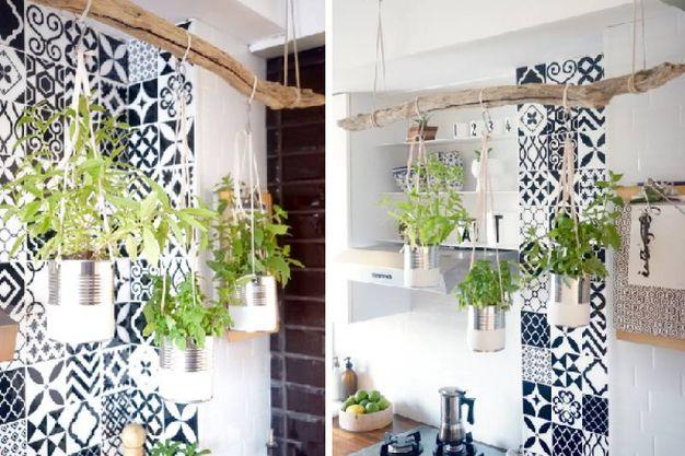 Giardino sospeso di piante aromatiche fai da te - Magazine - Tempo ...