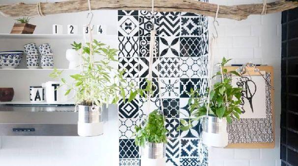 Fai da te il tuo giardino sospeso di piante aromatiche!