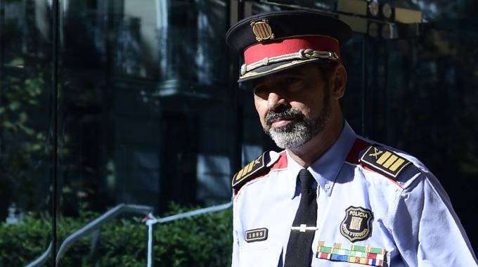 Catalaogna, Josep Luis Trapero, capo dei Mossos d'Esquadra (foto Afp)