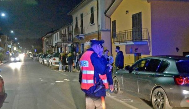 Polizia sul luogo dell'incidente