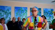 Patch Adams, celebre medico statunitense ideatore della clown terapia (Foto Scardovi)