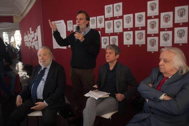 Pupi Avati, Claudio Mazzanti, Andrea Maioli e Antonio Avati (foto Schicchi)
