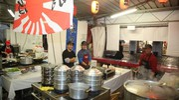 La cucina dello stand giapponese (foto Ravaglia)