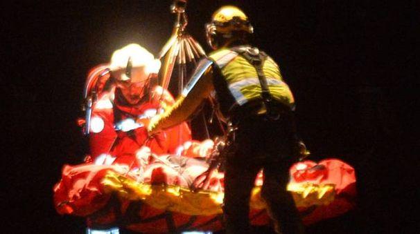 Il recupero dei feriti sul Monte Minisfreddo (Np)