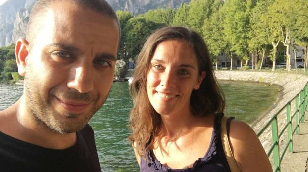Angela Parimbelli e Paolo Trapani sul lungolago
