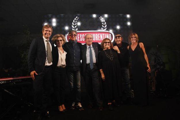 Da sinistra Pietro Maresca, Maria Fiorentino, Gaetano Curreri, Angelo Maresca,  Marta Fiorentino, Luca Carboni e  Marianna Morandi (Foto Schicchi)