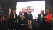 Le famiglie Maresca e Fiorentino con il ministro Gian Luca Galletti e la vice presidente della Regione Emilia Romagna Elisabetta Gualmini (Foto Schicchi)