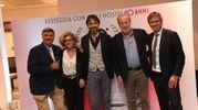 Da sinistra Celso de Scrilli, Maria Fiorentino, Guglielmo Garagnani, Maurizio De Vito  Piscicelli e Pietro Maresca (Foto Schicchi)