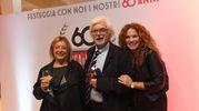 Al centro il professore Emilio Franzoni con signora (a sinistra) e Maria Francesca Sassoli (Foto Schicchi)