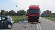 Il terribile incidente (Foto Radogna)