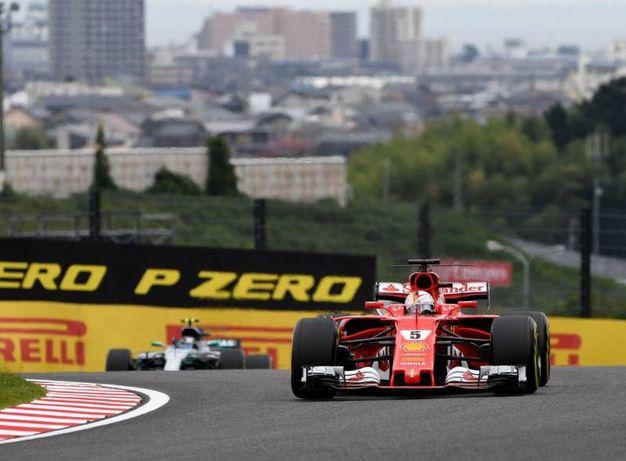 Vettel durante la Q3 (Afp)