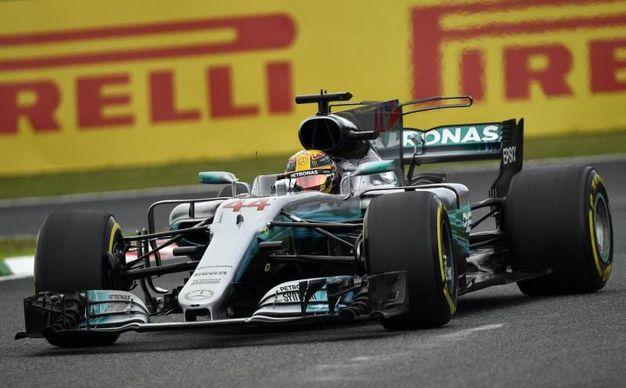 Hamilton durante la Q3 (Ansa)