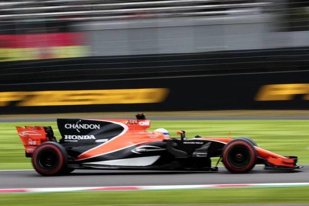Alonso durante le qualifiche (Afp)