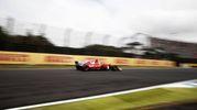Vettel durante le qualifiche (Afp)