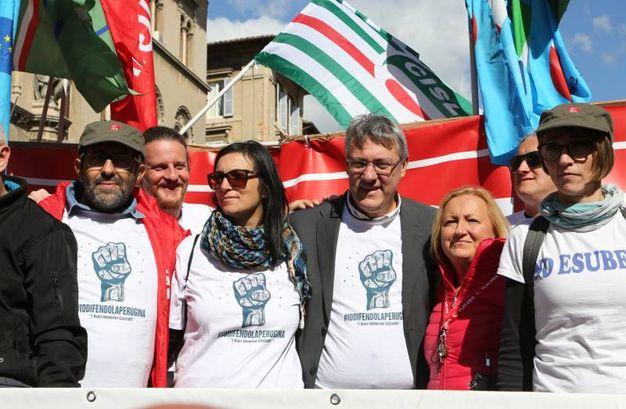 Manifestazione  lavoratori Perugina-Nestlè (Foto Crocchioni)