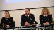 Al centro Luca Armeni, capo della Squadra Mobile (Foto Schicchi)