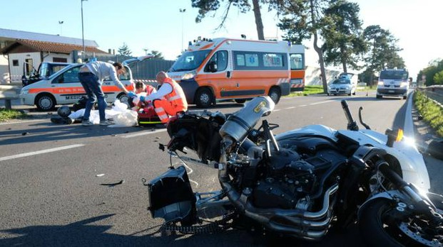 Incidente mortale sulla Ravegnana (foto Frasca)
