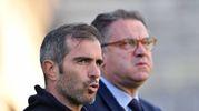 Enzo Maresca con Andrea Cardinaletti (foto LaPresse)