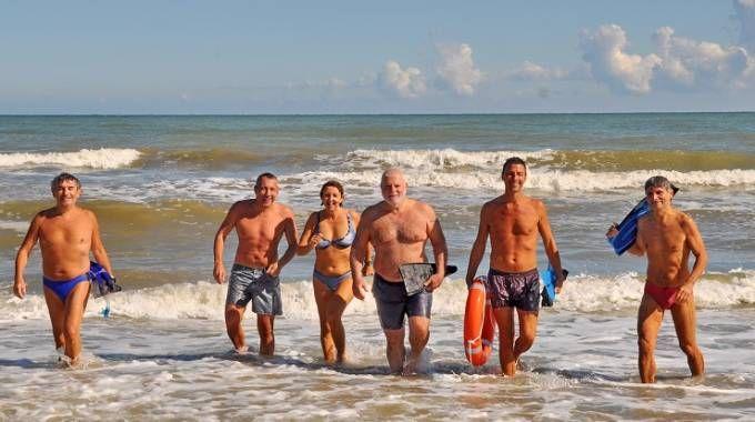 I nuotatori del Bagno 52 Sottozero (Foto Concolino)