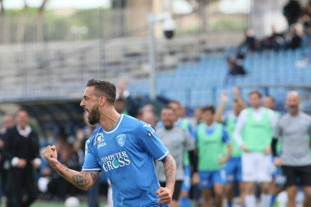 Empoli-Foggia esultanza gol Francesco Caputo (Foto Germogli)