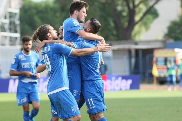 Empoli-Foggia gol esultanza Francesco Caputo  (Foto Germogli)