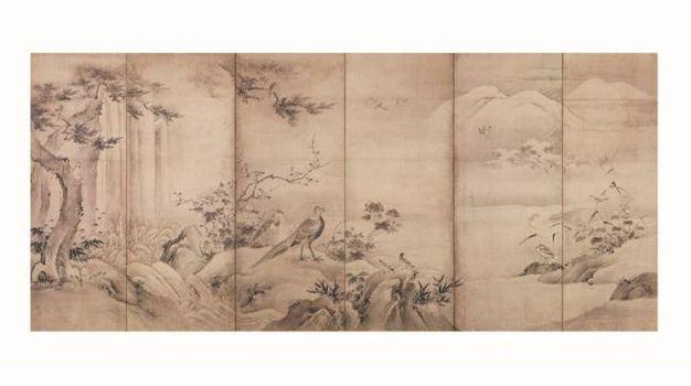 Uccelli e fiori delle quattro stagioni-Kanō Shōei (1519 – 1592)