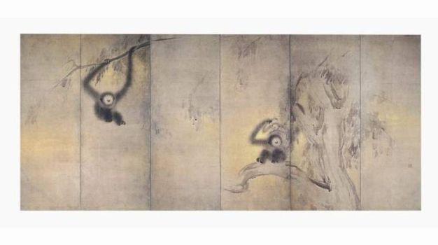 Scimmie e foresta di bambù-Hasegawa Tōhaku (1539 – 1610).jpg