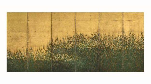 Spighe di grano e papaveri-Kanō Shigenobu