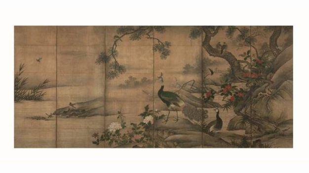 Uccelli e fiori delle quattro stagioni-Kanō Utanosuke (attivo alla metà del XVI secolo)