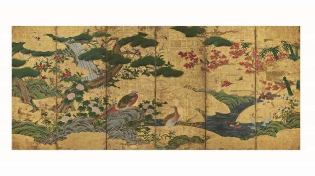 Uccelli e fiori delle quattro stagioni-Scuola Kanō (copia da originale di Kanō Motonobu)