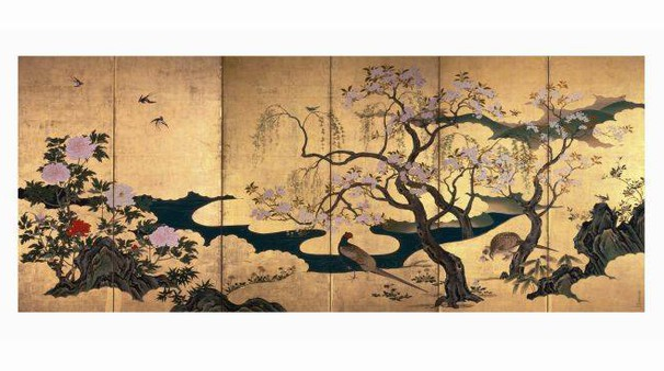 Uccelli e fiori in primavera ed estate-Kanō Einō (1631 – 1697)
