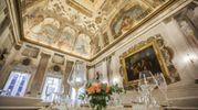 Gli interni del palazzo restaurato