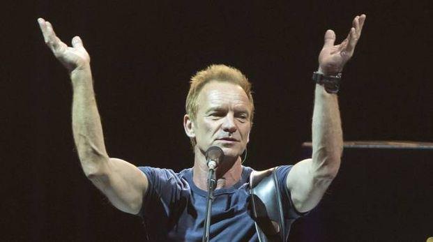 Sting in concerto in Spagna (Foto Lapresse)