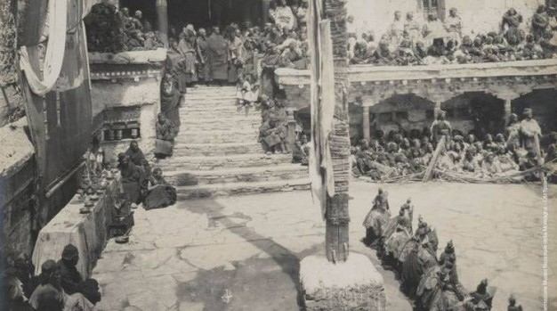 Mario Piacenza, Una fase della gran tamascia di Himix e altare per le offerte, 1913