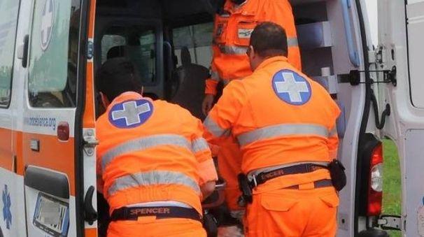 Il motociclista è stato soccorso dal 118