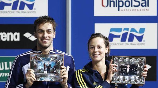 Gregorio Paltrinieri e Federica Pellegrini in una foto d'archivio (Alive)