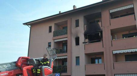 Incendio in un appartamento a Gorgonzola
