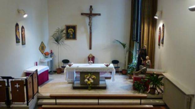 La chiesa all'interno dell'Ospedale S. Maria delle Croci di Ravenna