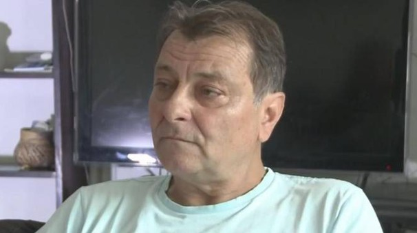 Cesare Battisti in un  fermo immagine tratto dalla tv brasiliana Tv Tribuna - Ansa