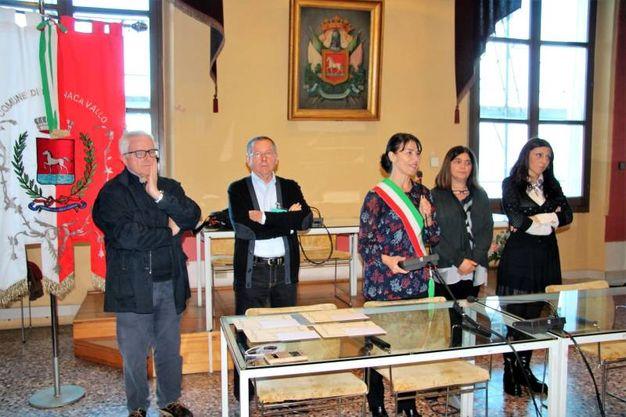Il saluto del sindaco di Bagnacavallo, Eleonora Proni (Foto Scardovi)