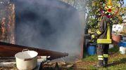 A fuoco un capanno a Chiaravalle (foto omaggio)
